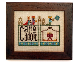 Nativity Double Up chart series cross stitch chart Heart In Hand  - $7.65