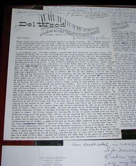 Del Wood Huge Letter Collection 1963-1988