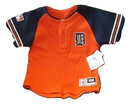 NWT Detroit Tigers Kid 18M Jersey Shirt Genuine MLB Baseball baby Orange NEW  - $15.99