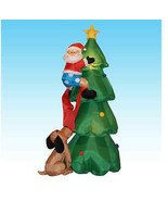 Inflatable Santa Claus Decoration Holiday Christmas Decor Design Self In... - $144.55