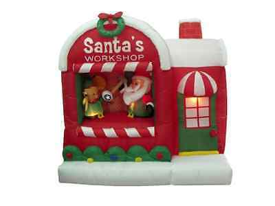 Primary image for Christmas Inflatable Santa Claus Holiday Lawn Yard Workshop Design Self Inflates