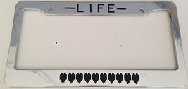 Life Meter / Heart Meter - Automotive Chrome License Plate Frame - Classic Ga... - $15.99