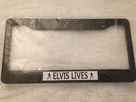 """King of Pop """" Elivs Lives """" - Automotive Black License Plate Frame - - $15.99"""