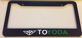 Toyoda Style - Automotive Black with Green License Plate Frame - - $15.99
