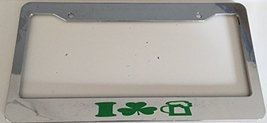 I Love Beer with Clovers Image - Automotive Chrome with Green License Plate F... - $15.99