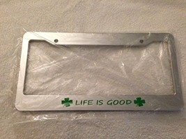 Life Is Good with Clovers Image - Automotive Chrome with Green License Plate ... - $15.99