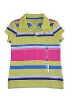 Girls Tommy Hilfiger Polo Shirt Classic Striped/Solid Tee Kids Sizes 4 - 7  - $21.99
