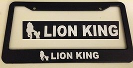 Lion King with Simba Inside - Automotive Black License Plate Frame - Very Cute - $15.99