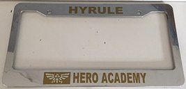 Hyrule Hero Academy - Automotive Chrome with Gold License Plate Frame - Class... - $15.99