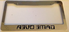 Gamer Over Mirrored 8 Bit - Automotive Chrome License Plate Frame - Video Gam... - $15.99