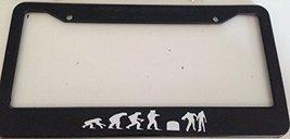 Evolution of Humans From Ape - Automotive Black Automotive License Plate Fram... - $15.99