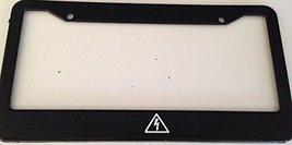 High Voltage Symbol - Automotive Black License Plate Frame - Electric Car Love - $15.99