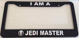 I Am a Jedi Master - Automotive Black License Plate Frame - - $15.99