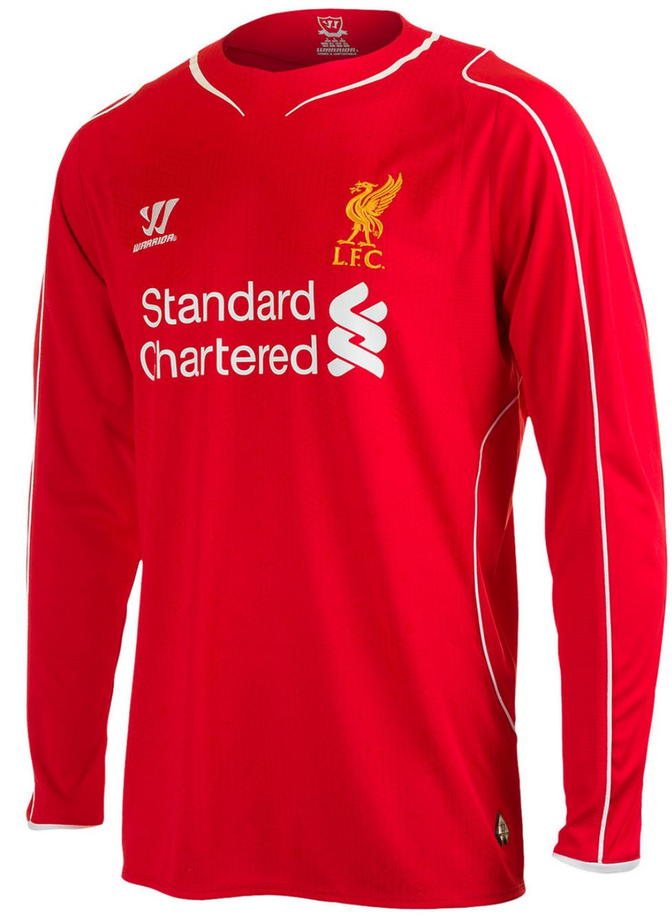 Liverpool Long Sleeve Home 2014-15 Men Soccer Jersey Football Shirt New - Men