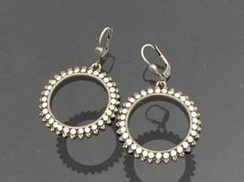 Vintage Jewelry Rhinestone Dangle Earrings  - $12.00