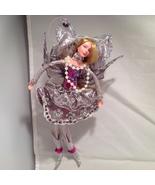 American Silkflower Collection, Purple Skirt Hanging Angel Silver decora... - $34.99