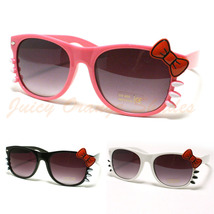 Kitty Sunglasses For Women Ribbons And Whiskers Cute Design New - $9.95