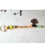 Green Repurposed Vintage Beaded Thunderbird Keychain, European Beads, Ha... - $6.50
