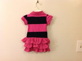 U.S. POLO Ralph Lauren Baby Girl Pink Black Dress with Panties size 6-9 month image 2