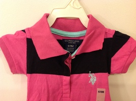 U.S. POLO Ralph Lauren Baby Girl Pink Black Dress with Panties size 6-9 month image 3