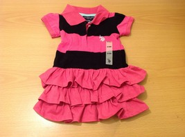 U.S. POLO Ralph Lauren Baby Girl Pink Black Dress with Panties size 6-9 month image 8