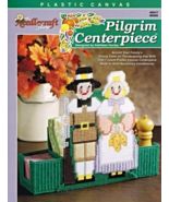 The Needlecraft Shop Pilgrim Centerpiece Thanksgiving Plastic Canvas Pat... - $6.69