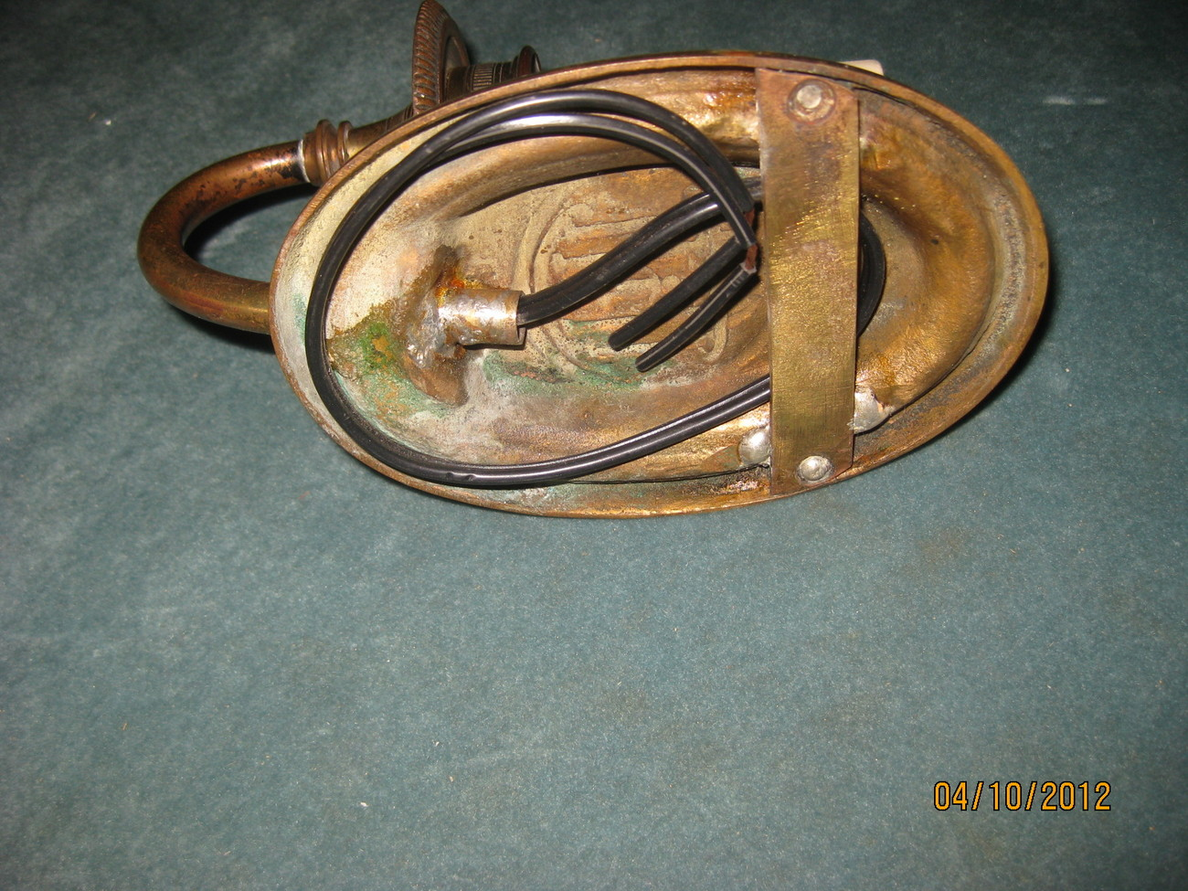 Pair of French single light bronze sconces