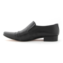 O men perforated leather shoes black dress shoes for men 4b3c thumb200
