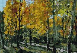 pepita Autumn Trees Needlepoint Canvas - $57.00