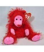 Ty Punkies FLAME the Red Monkey w/Heart Shape Nose Long Hair Retired #00420 - $3.49