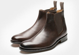O handmade men chelsea leather boot brown boot for men 3b98 thumb200