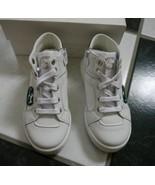 NIB 100% AUTH GUCCI white leather high-top sneaker with green interlocki... - $176.22