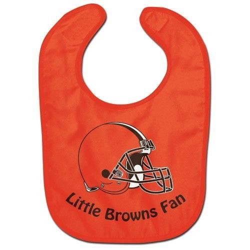 CLEVELAND BROWNS ALL PRO BABY BIB VELCRO CLOSURE TEAM LOGO NFL FOOTBALL