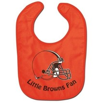 CLEVELAND BROWNS ALL PRO BABY BIB VELCRO CLOSURE TEAM LOGO NFL FOOTBALL - $8.51
