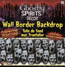 Spooky Horror Prop-GHOSTLY SPIRITS BORDER-Scene Setter Trim Halloween De... - $7.89