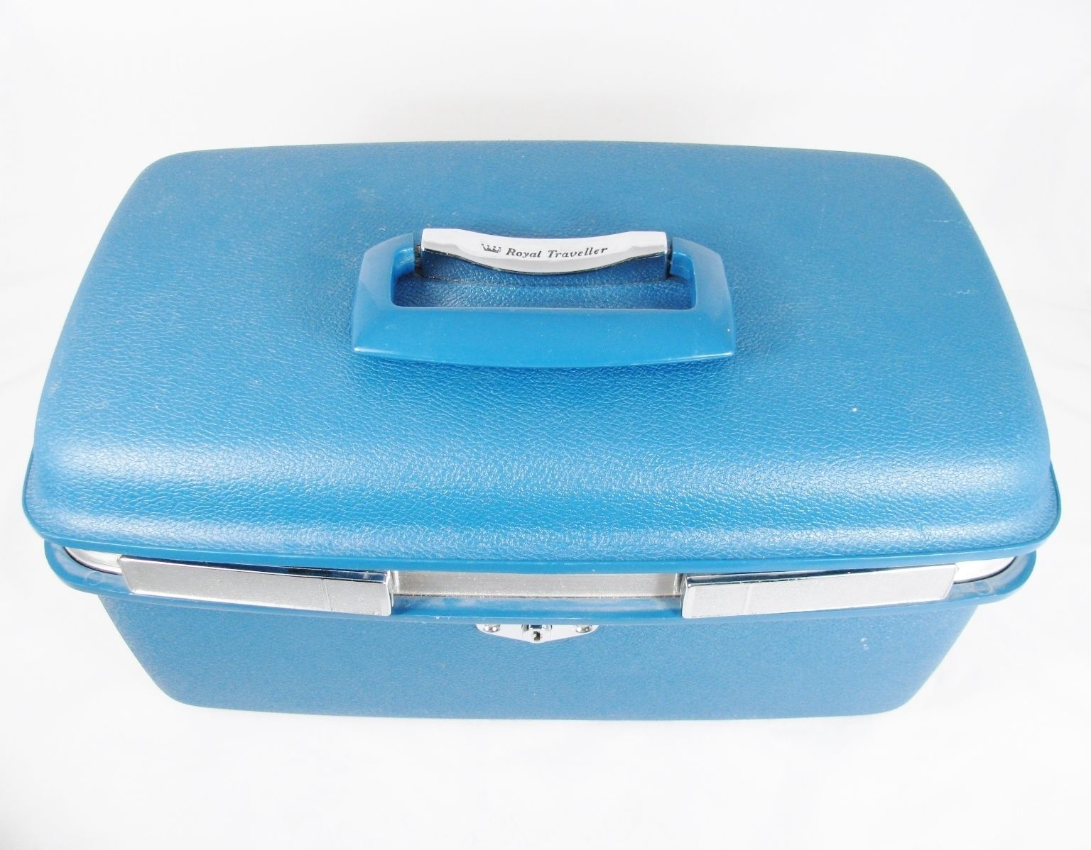 ROYAL TRAVELLER MONTBELLO Blue Makeup Train Overnight Travel Hardcase