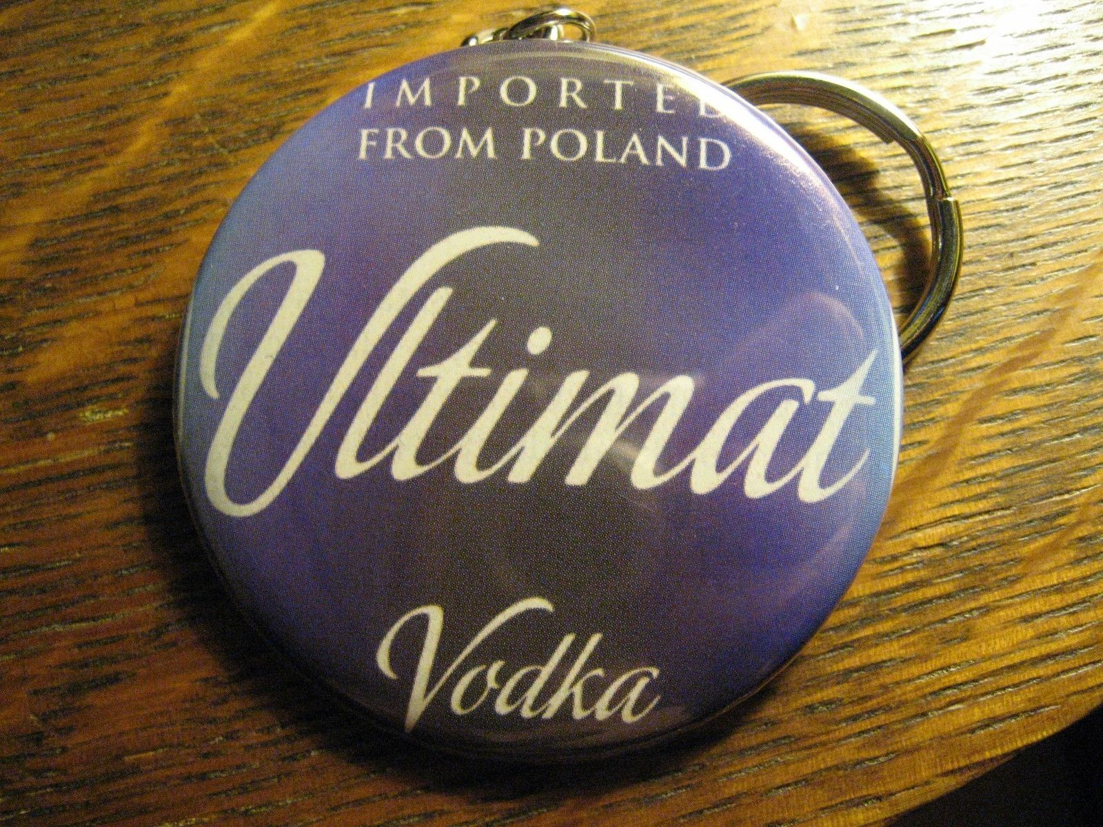Ultimat Vodka Keychain - Repurposed Magazine Ad Backpack Purse Clip Ornament