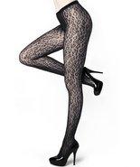 Stella Elyse Leopard Spots Animal Print Fishnet Pantyhose One Size - $11.87