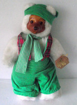"Robert Raikes Bear Santa's Elf Green Wood Face Feet 12"" Applause Plush C... - $44.54"