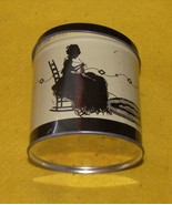 VINTAGE TIN METAL KNITTING TWINE HOLDER WOMAN KNITTING - $25.00