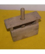 Vintage Primitive Wood Butter Mold - $25.00