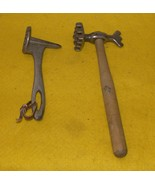Vintage Cast Iron Axe Head Meat Hammer Tenderizer / Two / - $50.00
