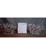 Set of 3  Orrefors Sweden Cross Shaped Max Votive Candle Holders, Art Gl... - $41.00