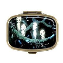 Guojew KODAMAS PRINCESS MONONOKE Custom Fashion Square Pill Box Tablet Holder Po