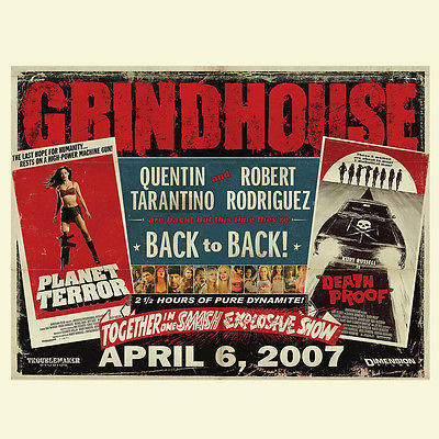 Grindhouse Horror T shirt graphic printed 100% cotton movie film tee
