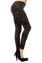 Womens Colorful Print Spandex Full Length Leggings (free size, paisley d... - $15.83