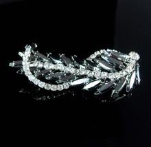 Vintage Cascading Brooch HUGE statement piece Dramatic dimensional sparkling rib - $95.00