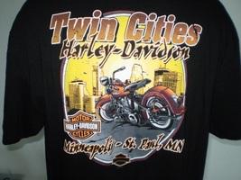 Harley-Davidson Black T-Shirt 2XL Minneapolis-St. Paul, Mn - $20.00