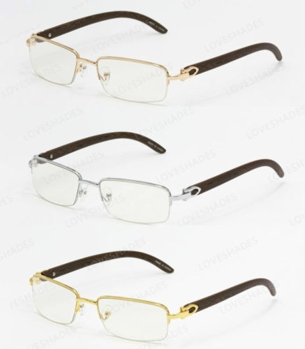 b4f71cdf1aca Carty style1. Carty style1. Previous. Cartier style Wood Buffs glasses  sunglasses SILVER FRAMES WITH WOOD ...