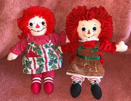 1996 Raggedy Ann Hasbro & Aurora Gingerbread Ann 2013 Dolls Holiday Doll... - $19.79